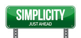 simplicity road sign poster