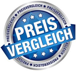 "Button Banner ""Preisvergleich"" blau/silber"