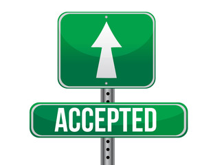 accepted road sign