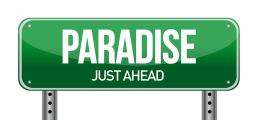 paradise road sign