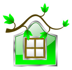 Eco Friendly Green Home Icon