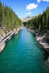 Riviere Cascade lake Minnewanka