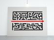 cardboard with maze