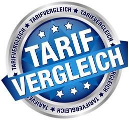"""Button Banner """"Tarifvergleich"""" blau/silber"""