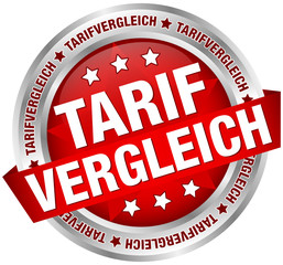 """Button Banner """"Tarifvergleich"""" rot/silber"""