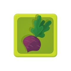 The illustration of farm element - vegetables