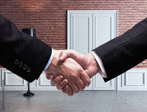 handshake and room