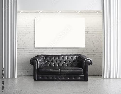 sofa and cardboard