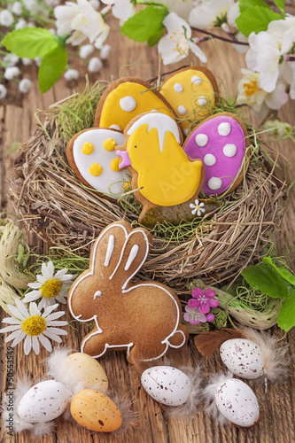 Colorful easter cookies