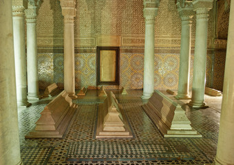 The Saadiens Tombs in Marrakech. Morocco.