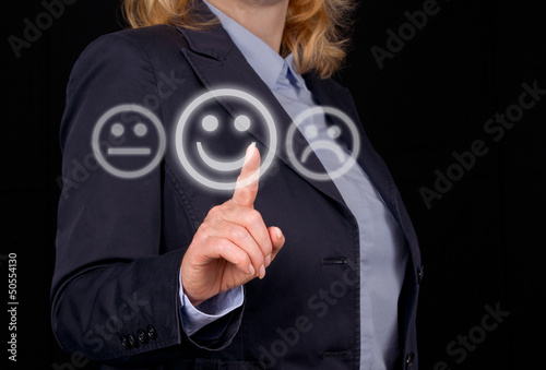 Business Woman with positive Feedback