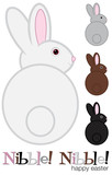 Easter Bunny set in vector format.