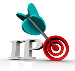 Ipo Initial Public Offering Arrow Target Stock Market