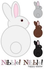 Easter Bunny set in vector format.