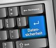"Keyboard Illustration ""Datensicherheit"""