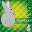 Easter Bunny card in vector format.