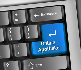 "Keyboard Illustration ""Online Apotheke"""