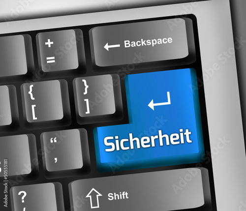 "Keyboard Illustration ""Sicherheit"""