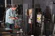 Man Working with Kiln