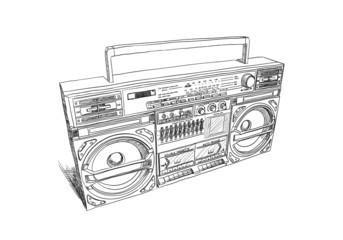 Oldschool boombox