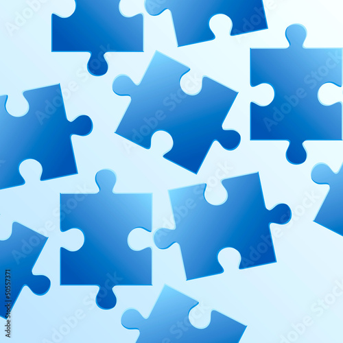 background made from blue puzzle pieces