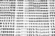 Dry Transfer Lettering Sheets