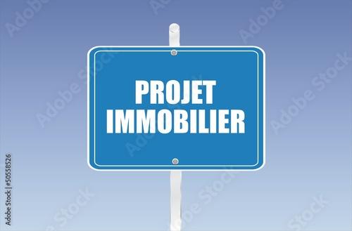 panneau projet immobilier