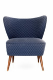 Retro blue upholstered chair