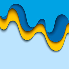 Abstract blue background. Wavy design