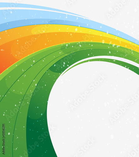 Concentric abstract background