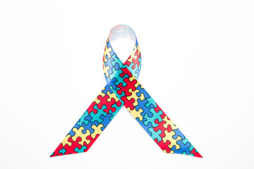Awareness ribbon for autism and aspergers