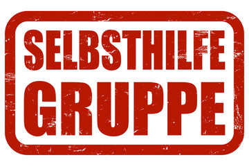 Grunge Stempel rot SELBSTHILFEGRUPPE
