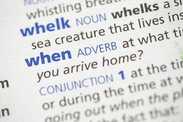 Whelk and when definition