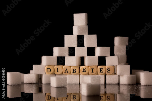 Sugar cubes stacked
