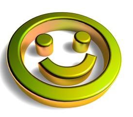 3D Goldzeichen - Smiley II