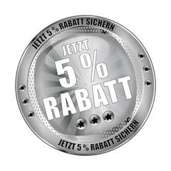 Jetzt 5 Prozent Rabatt sichern