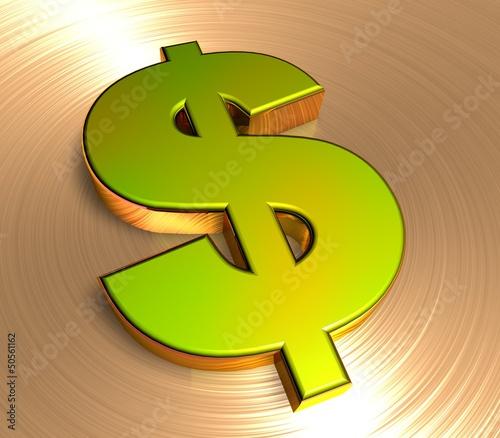 3D Goldzeichen II - Dollar