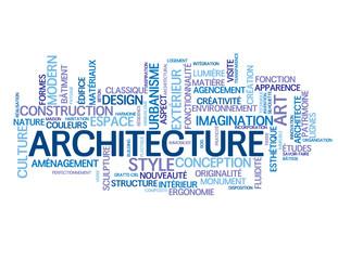 """Nuage de Tags """"ARCHITECTURE"""" (bâtiment monument style art beau)"""