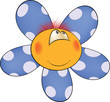 Happy cartoon flower, soft toy