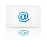 Envelope with email. Vector illustration.