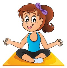 Image with yoga theme 1