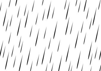 Schwarze Vorlage für Regen – Vektor und freigestellt