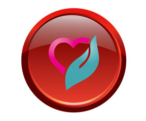 Botón corazón 2