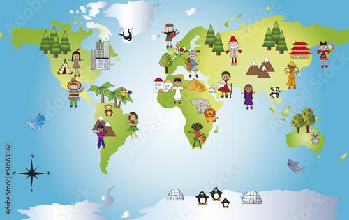 mapa-swiata-dla-dzieci