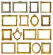 Set of 16 picture frames
