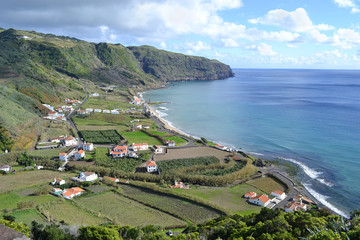 Azores, Santa Maria, Praia Formosa - beach with white sand