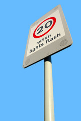 20mph speed warning sign