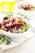 beet-walnut salad with honey