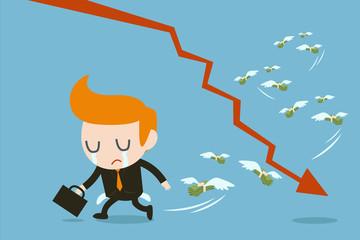 businessman lose money, eps 10