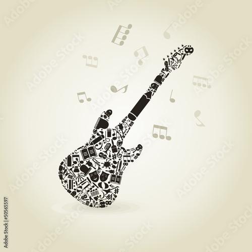 kunst-eine-gitarre